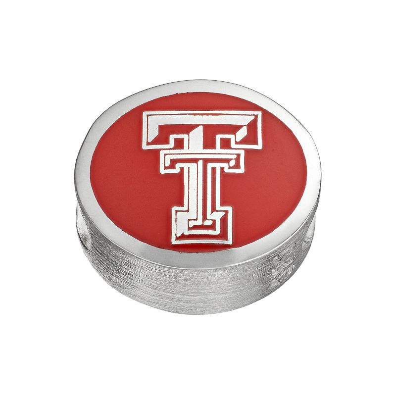 FioraSterling Silver Texas Tech Red Raiders Bead