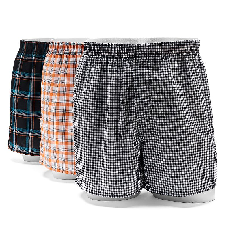 Men's Hanes Ultimate 3-pack Tagless Woven Boxers
