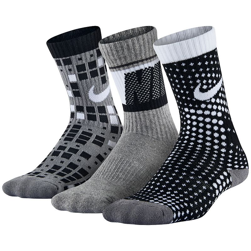 Boys Nike 3-Pack Graphic Crew Socks