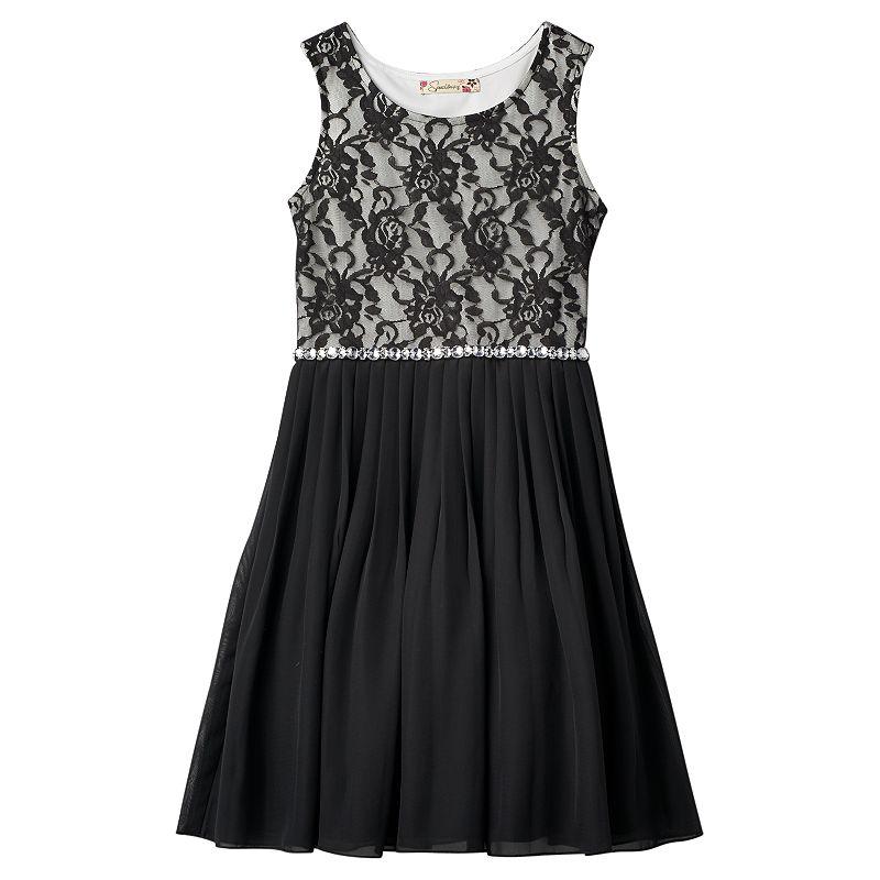 Girls 7-16 & Plus Size Speechless Flower Lace Skater Dress