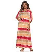 Plus Size Design 365 Tie-Dye Stripe Maxi Dress