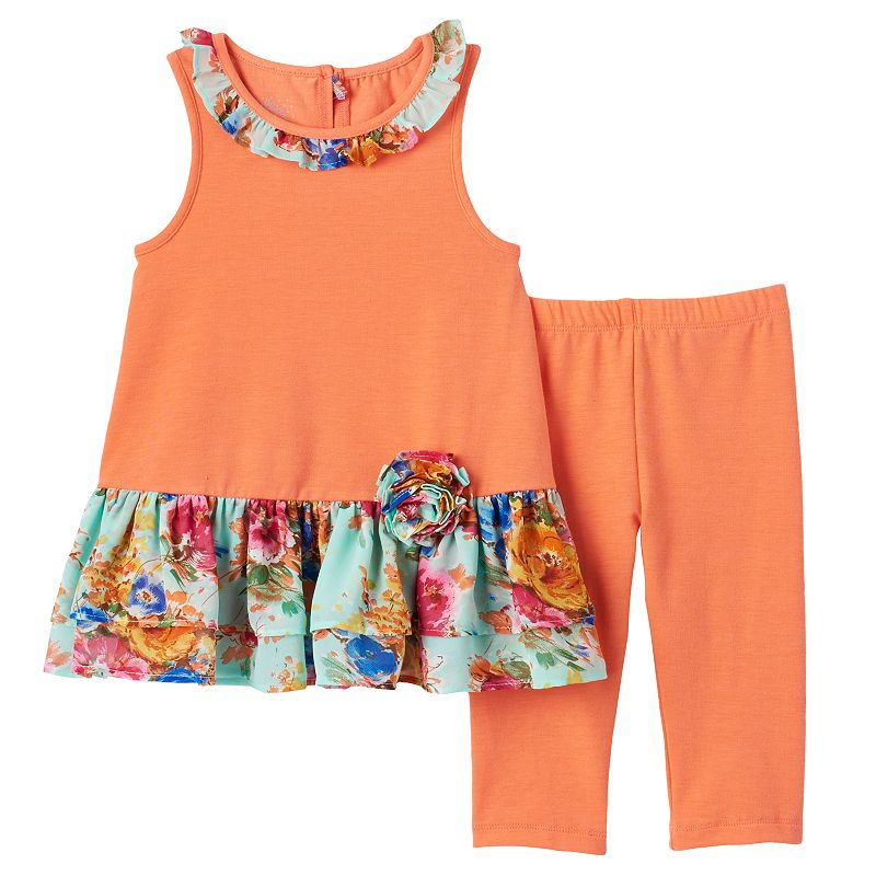 Toddler Girl Marmellata Classics Tunic Tank & Capri Leggings Set
