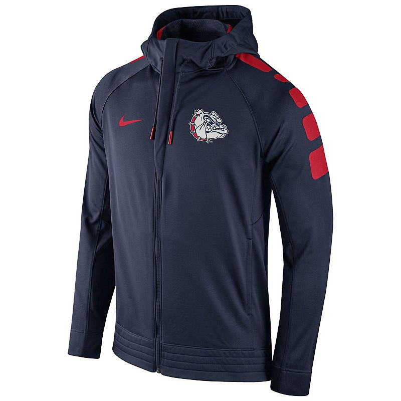 Men's Nike Gonzaga Bulldogs Elite Striped Hoodie