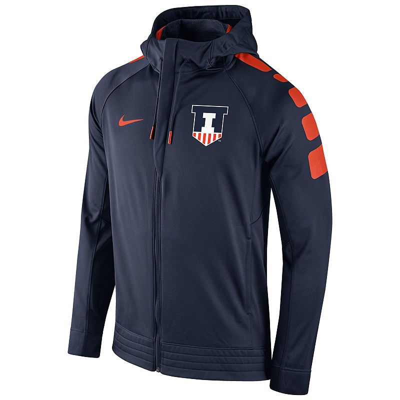 Men's Nike Illinois Fighting Illini Elite Striped Hoodie