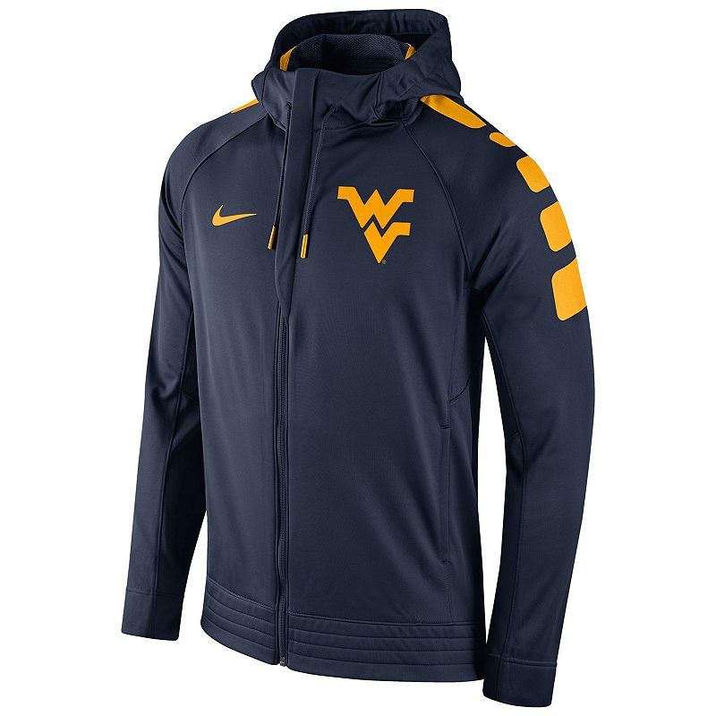 Men's Nike West Virginia Mountaineers Elite Striped Hoodie