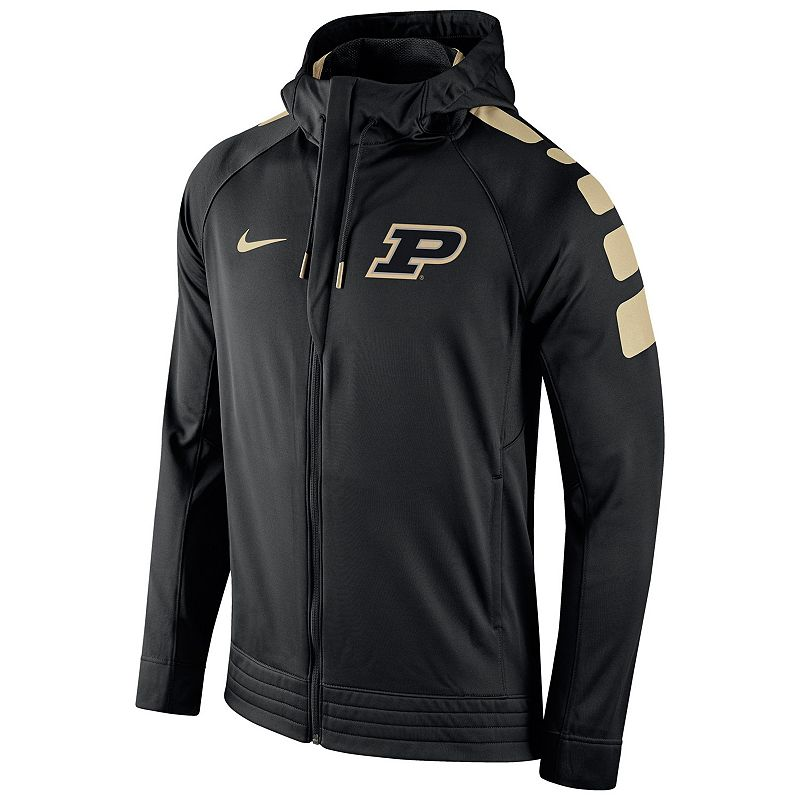 Men's Nike Purdue Boilermakers Elite Striped Hoodie