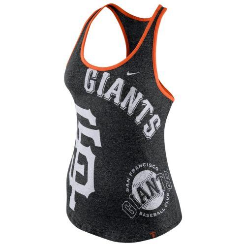 Women's Nike San Francisco Giants Marled Racerback Tank Top