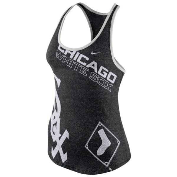 Women's Nike Chicago White Sox Marled Racerback Tank Top