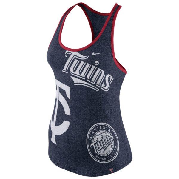 Women's Nike Minnesota Twins Marled Racerback Tank Top