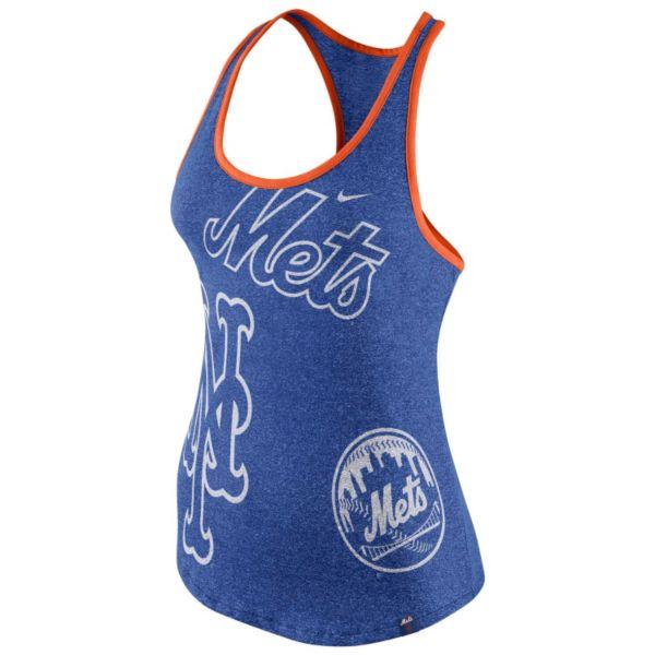 Women's Nike New York Mets Marled Racerback Tank Top