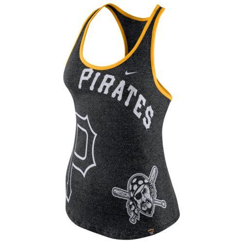 Women's Nike Pittsburgh Pirates Marled Racerback Tank Top