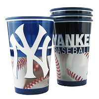 Boelter New York Yankees 4-Pack Souvenir Plastic Cups