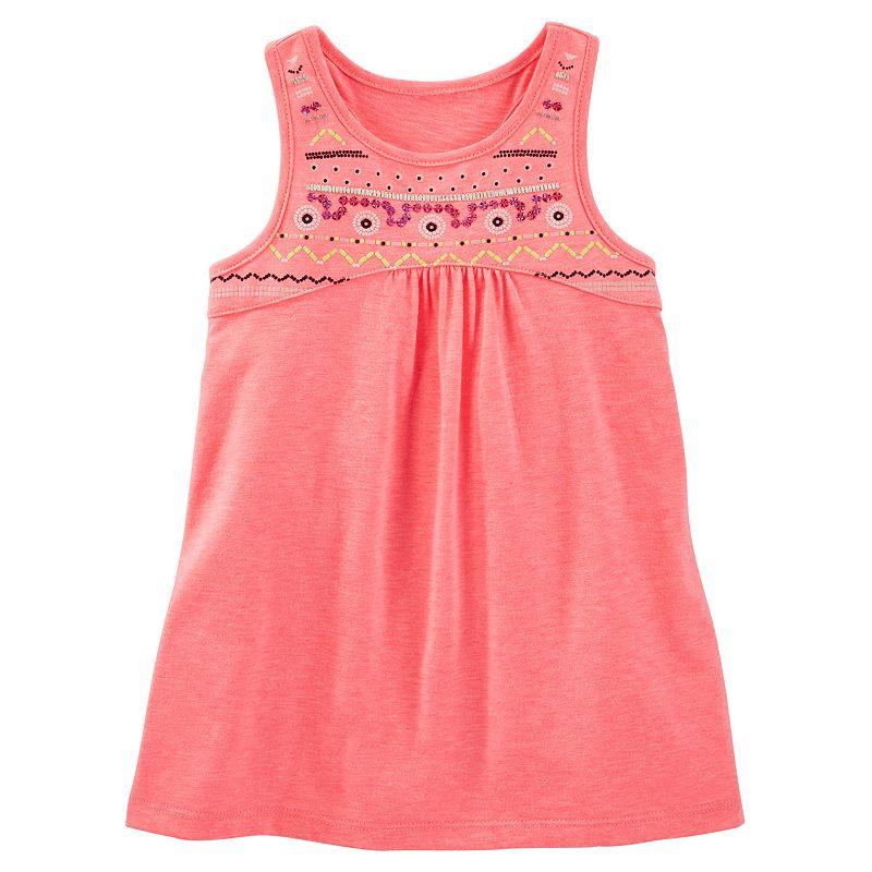 Toddler Girl OshKosh B'gosh® Embellished Puff-Print High-Low Tank
