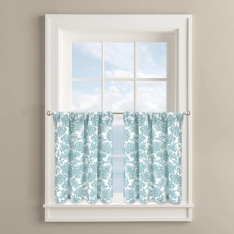 Colordrift Coral Cape 2-pk. Tier Curtains