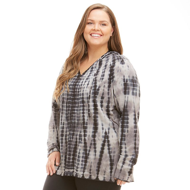Plus Size Balance Collection Tie-Dye Yoga Hoodie