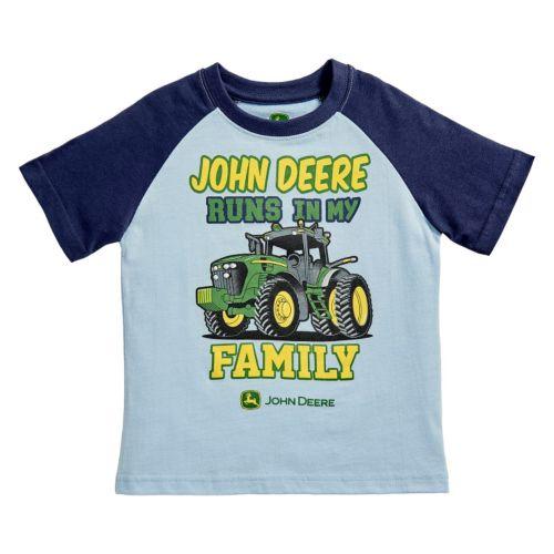 Toddler Boy John Deere Family Graphic Raglan Tee