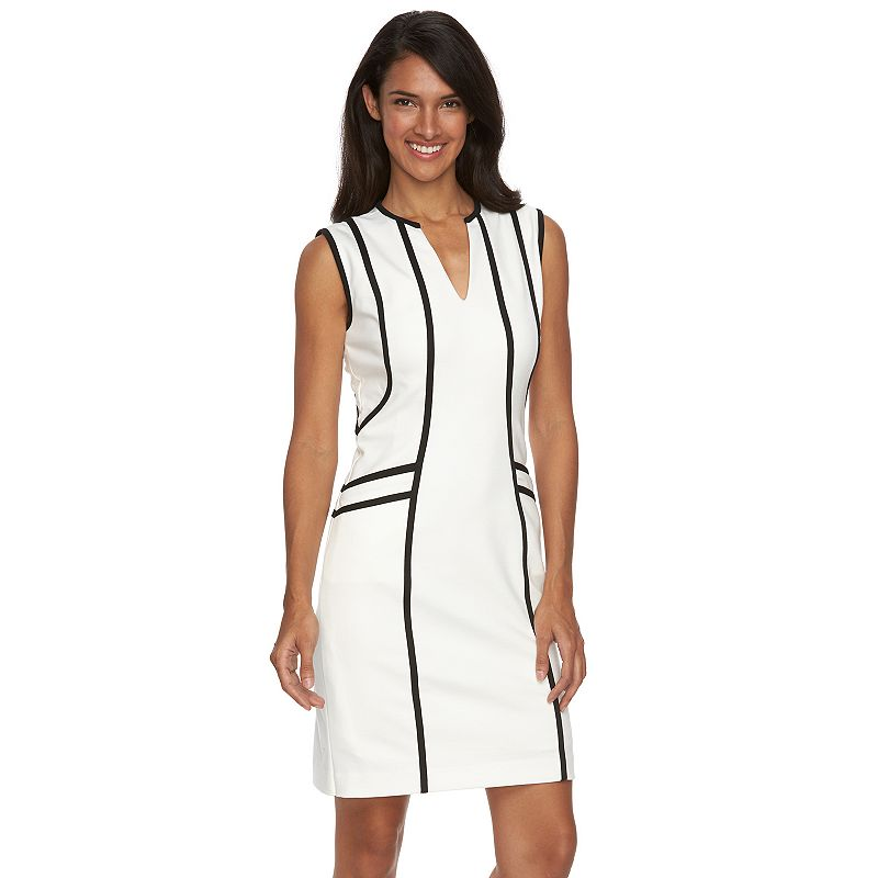 Women's Sharagano Splitneck Sheath Dress