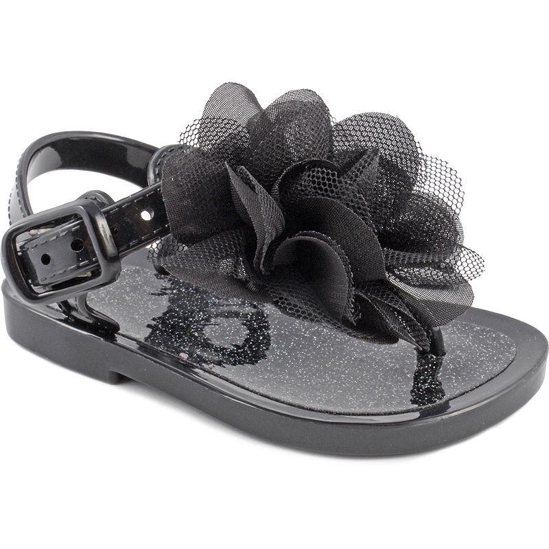 Baby Girl Wee Kids Glittery Jelly Crib Sandals