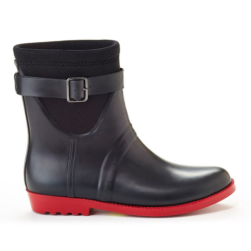 Henry Ferrera French Women's Water-Resistant Ankle Rain Boots