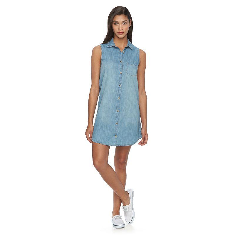 Juniors' SO® Chambray Shirtdress