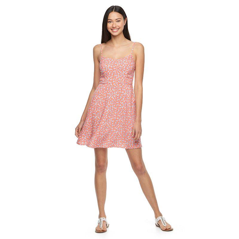 Juniors' SO® Smocked Woven Dress