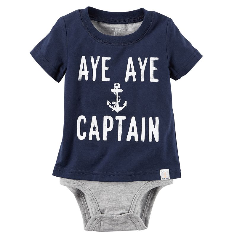 Baby Boy Carter's Mock-Layer Bodysuit