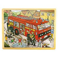 Bigjigs Toys 24-pc. Fire Engine Tray Puzzle