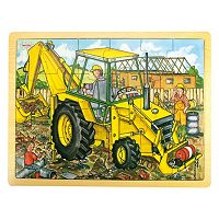 Bigjigs Toys 24-pc. Digger Tray Puzzle
