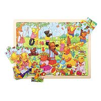 Bigjigs Toys 24-pc. Teddy Picnic Tray Puzzle