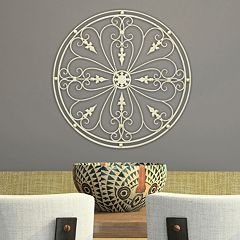 Stratton Home Decor Antique Medallion Metal Wall Decor