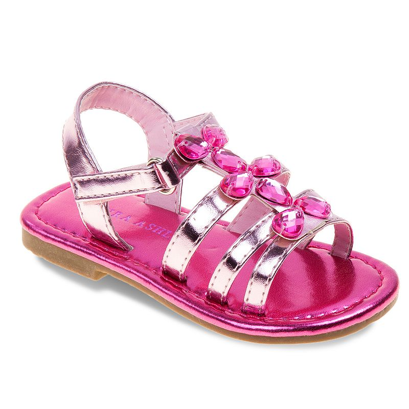 Laura Ashley Toddler Girls' Jeweled Sandals
