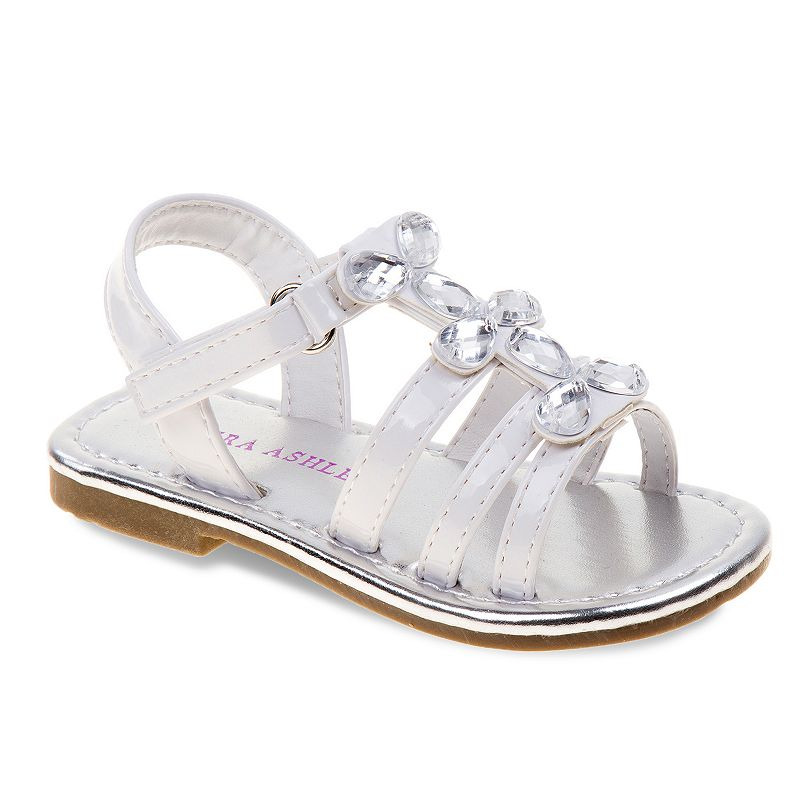 Laura Ashley Toddler Girls' Jeweled Sandals