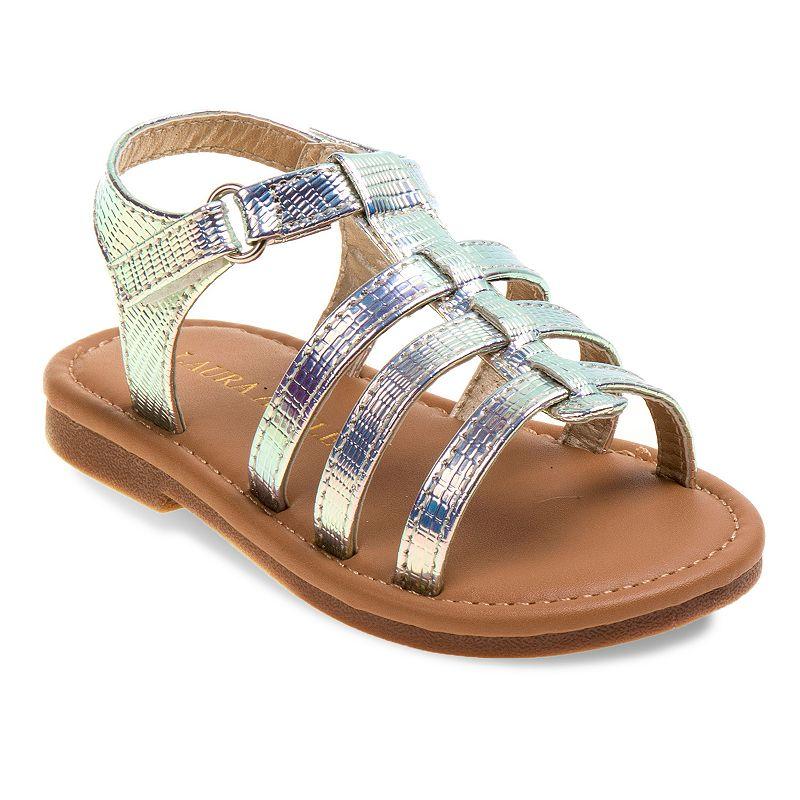 Laura Ashley Toddler Girls' Metallic Sandals