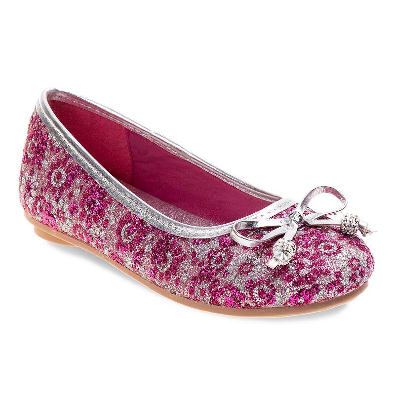 Laura Ashley Girls' Shimmering Ballet Flats