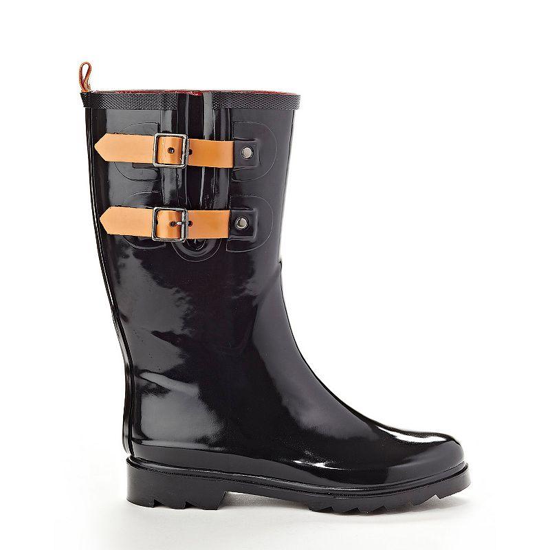 Henry Ferrera Black Stone Women's Water-Resistant Rain Boots