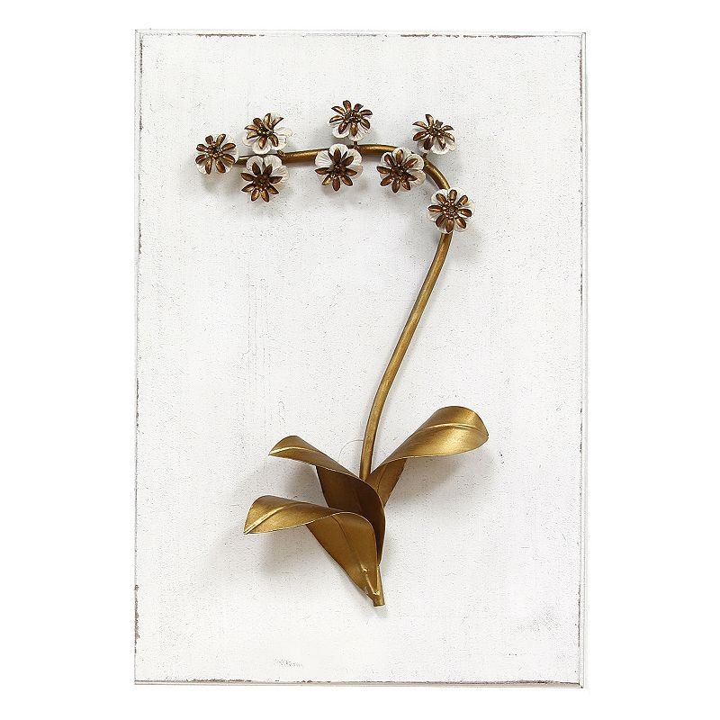 Stratton Home Decor Elegant Floral III Metal Wall Decor