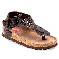 Rugged Bear Toddler Girls' T-Strap Sandals