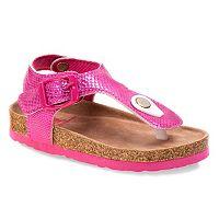 Rugged Bear Toddler Girls' T-Strap Sandals