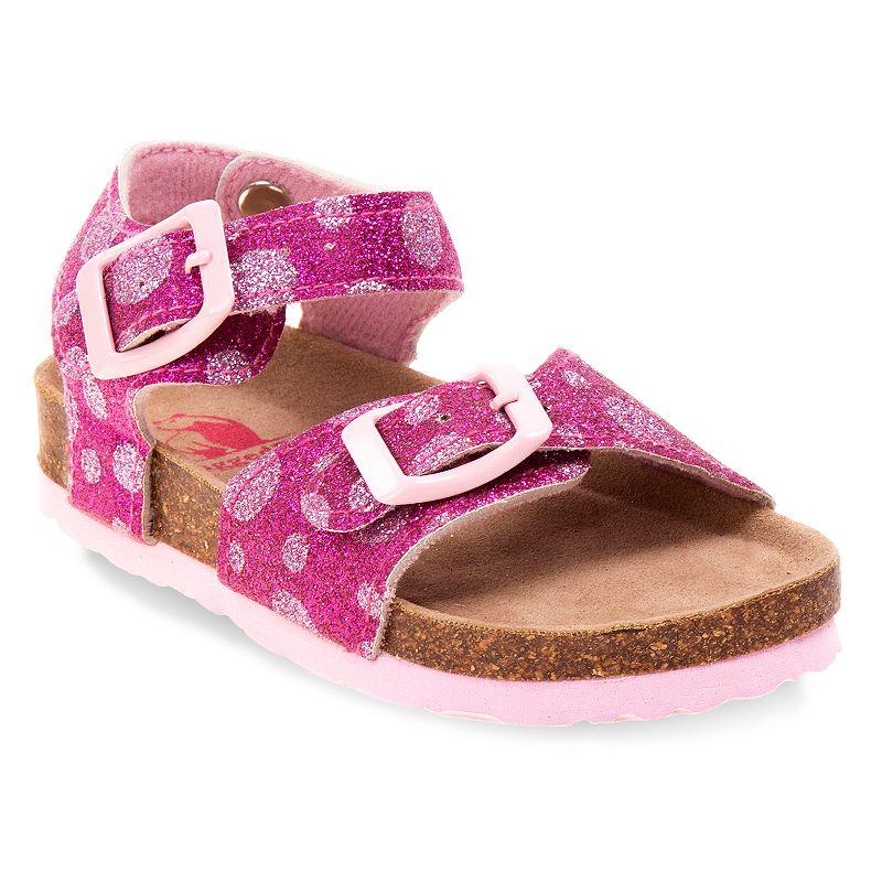 Rugged Bear Toddler Girls' Glitter Sandals
