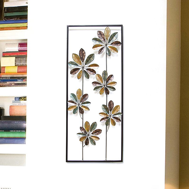Stratton Home Decor Climbing Flowers Metal Wall Decor