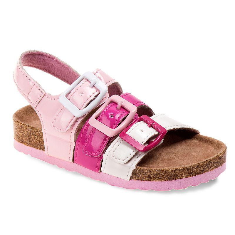 Rugged Bear Toddler Girls' Buckle Sandals