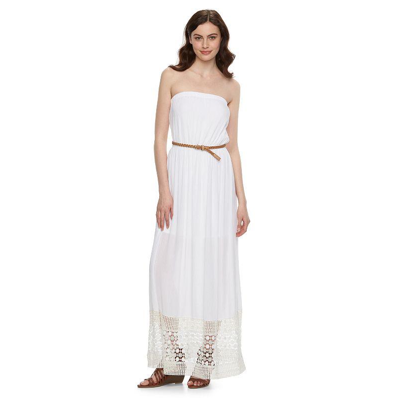 Juniors' Lily Rose Strapless Maxi Dress