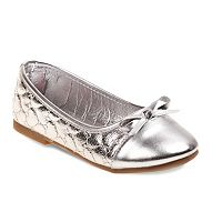 Rugged Bear Girls' Cap-Toe Ballet Flats
