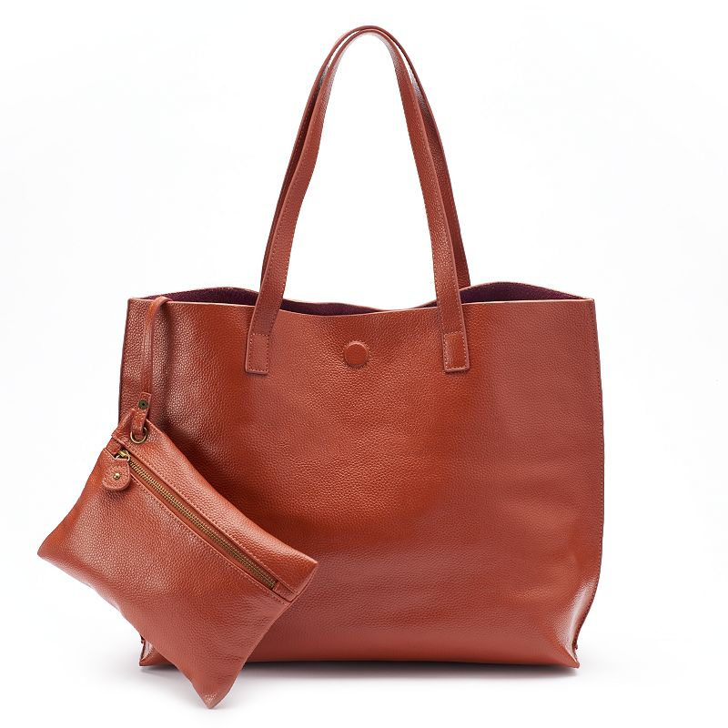 Under One Sky Leather Tote