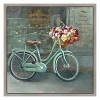 Paris Vintage Bicycle Framed Canvas Wall Art