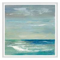 Blues of the Horizon I Framed Canvas Wall Art