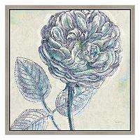 Blue Flowers III Framed Canvas Wall Art