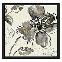 Black Flowers I Framed Canvas Wall Art