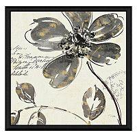 Black Flowers II Framed Canvas Wall Art