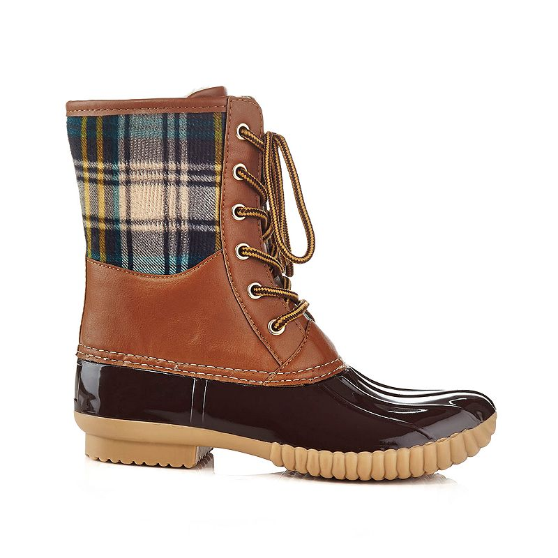 Henry Ferrera Mission Women's Water-Resistant Plaid Duck Boots